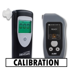 Recalibration for breathalyser