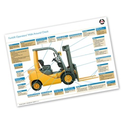 Forklift Walk Around Check - A2 Wall Poster