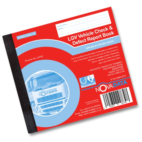 Vehicle Check & Defect Report Book -  LGV