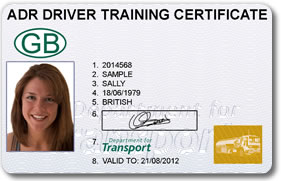 ADR Driver Training Photo Card Front