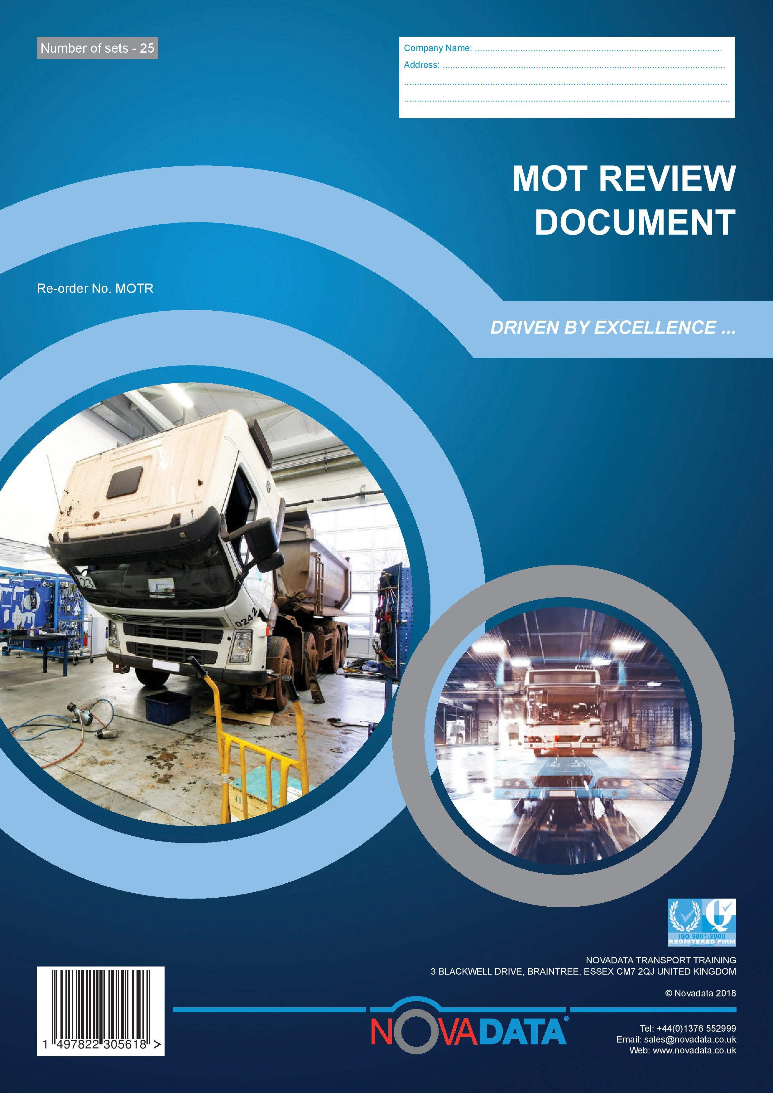 Novadata extends Earned Recognition range with MOT Review book